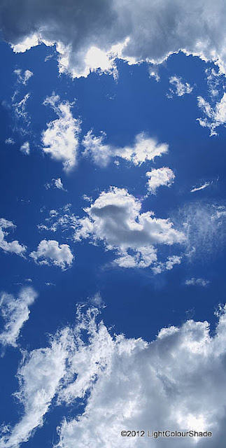 Stratocumulus clouds in the blue sky