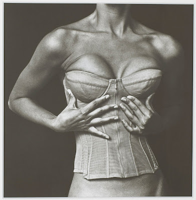 photograph by Irving penn of a karl lagerfeld corset for chanel