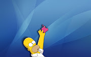 Homer Simpson With Apple