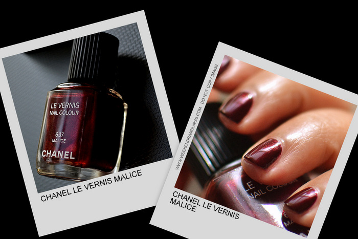 Eclats du Soire de Chanel Holiday 2012 Makeup Collection Le vernis Malice 637 nail polish Indian Beauty Blog Darker Skin Swatch