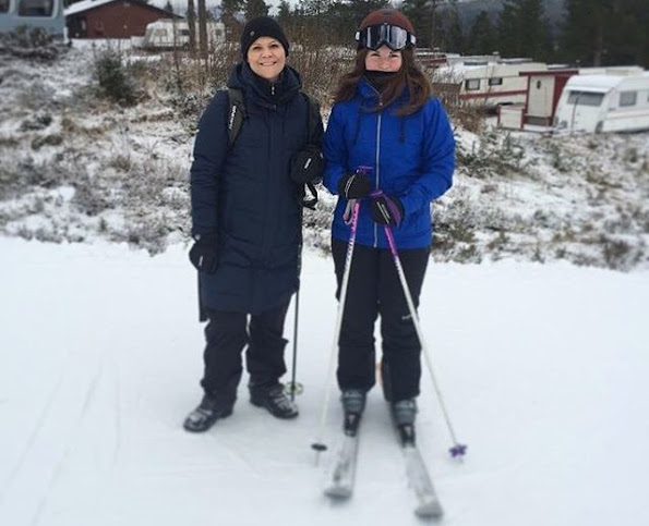 Crown Princess Victoria of Sweden and her family came together for resting and a short holiday at Trysil - Skistar Ski Center of Norway