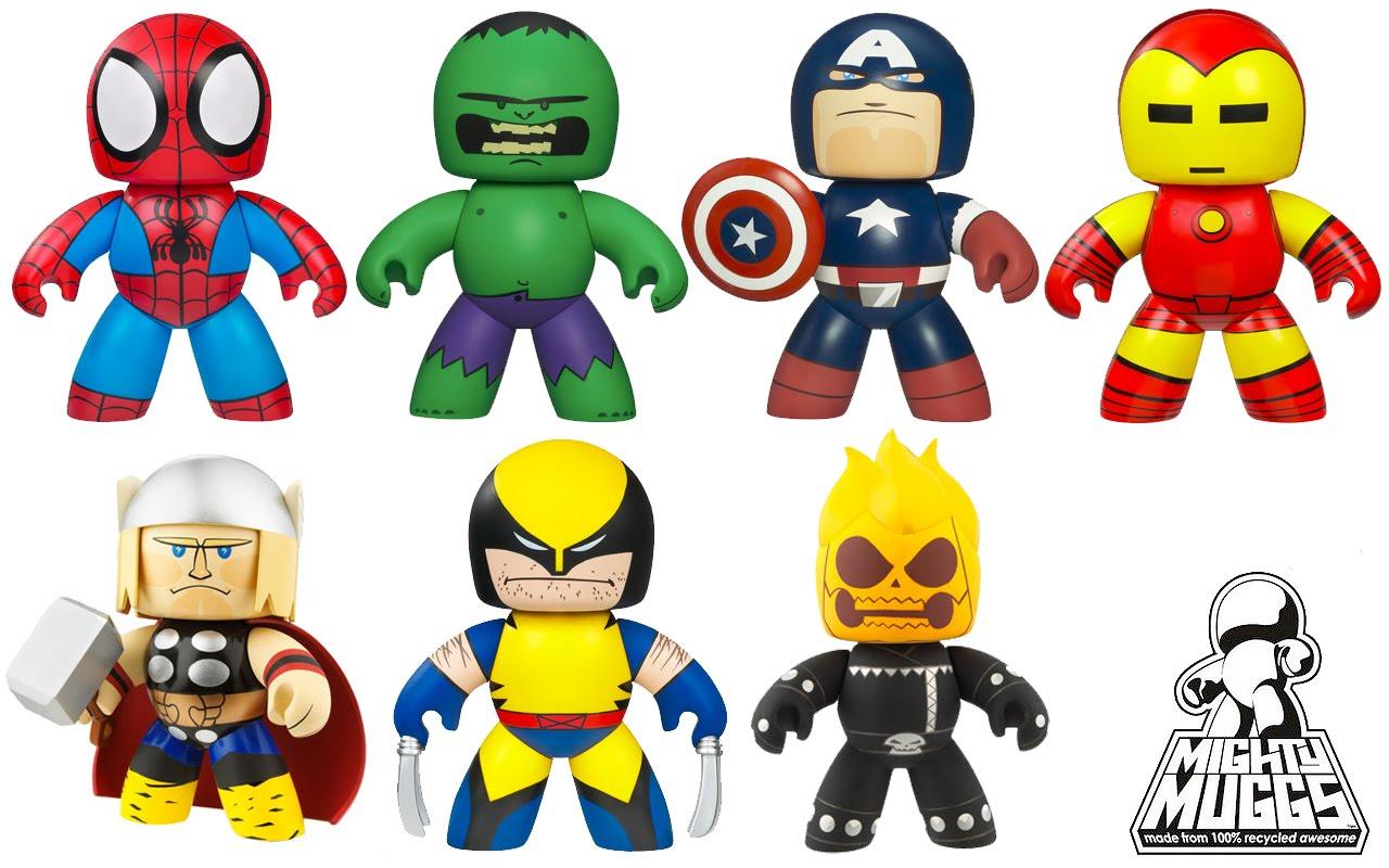 JkovNews  Heroes Pl  sticos Figuras Mighty Muggs