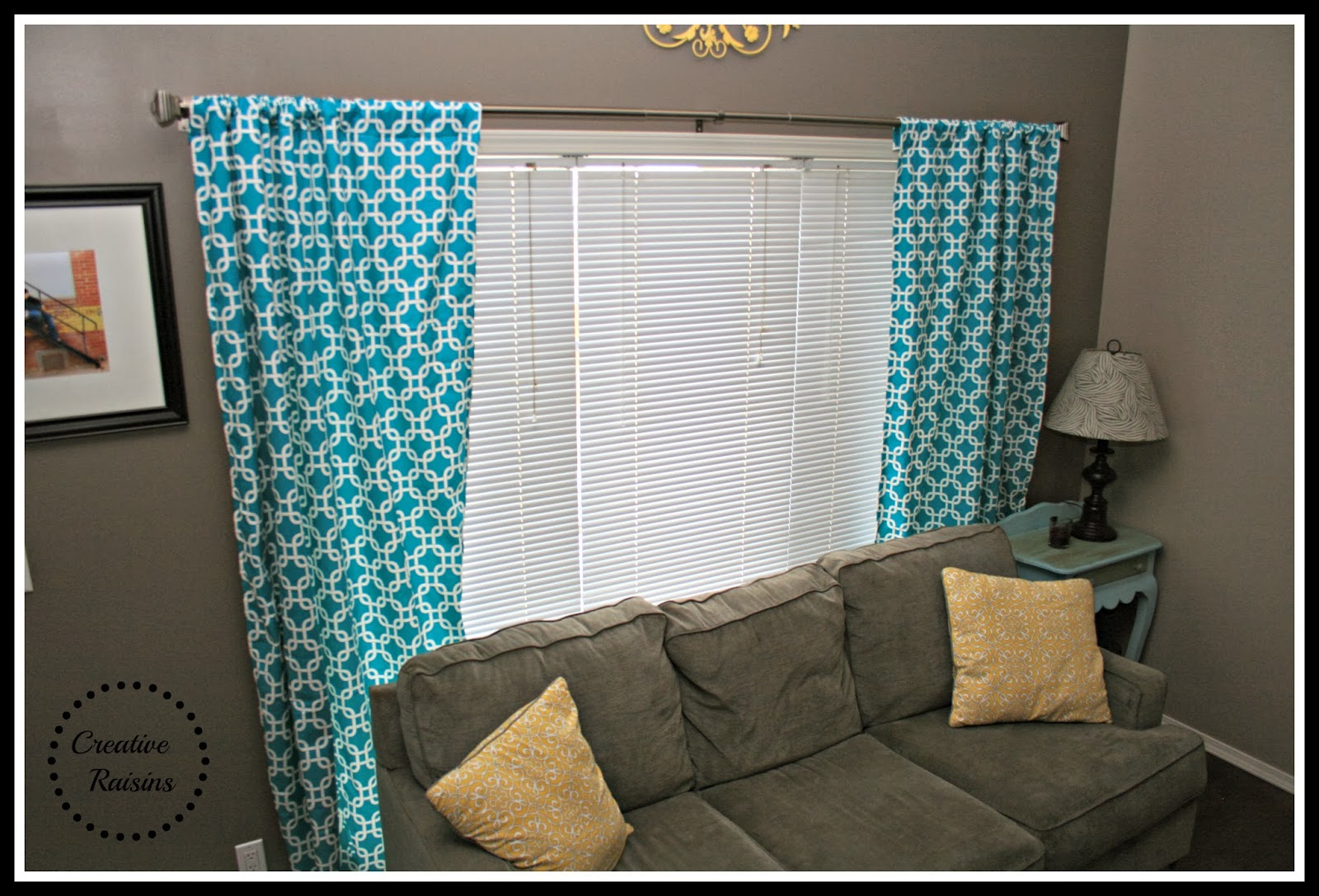 Teal Curtains For Living Room Livingroom update with