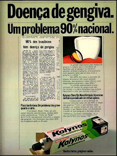 propaganda creme dental Kolynos - 1979. Reclame década de 70,