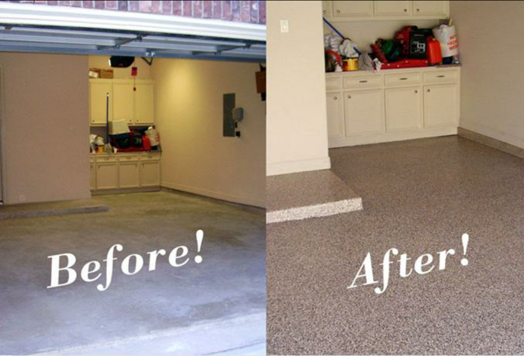 Denver colorado epoxy acrylic flooring systems for How to clean a garage floor without water