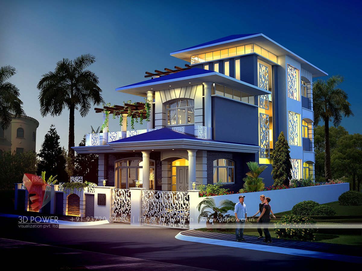 Indian modern bungalow exterior for Modern house design