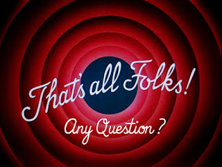 That's all folks! Any questions?