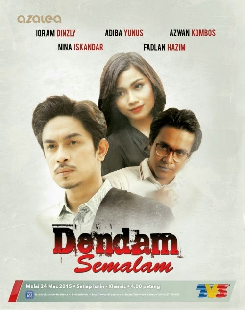 Sinopsis Dendam Semalam drama TV3, review Dendam Semalam, gambar dan pelakon Dendam Semalam, Iqram Dinzly – Farizal, Hakimi, Adiba Yunus – Atiqah, Azwan Kombos – Amirul, Dendam semalam episod akhir