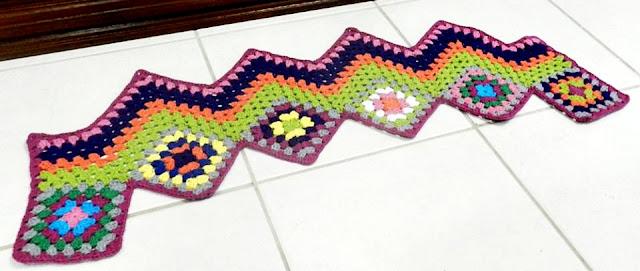 croche com receita e graficos de passadeiras quadrados square coloridos aprender croche