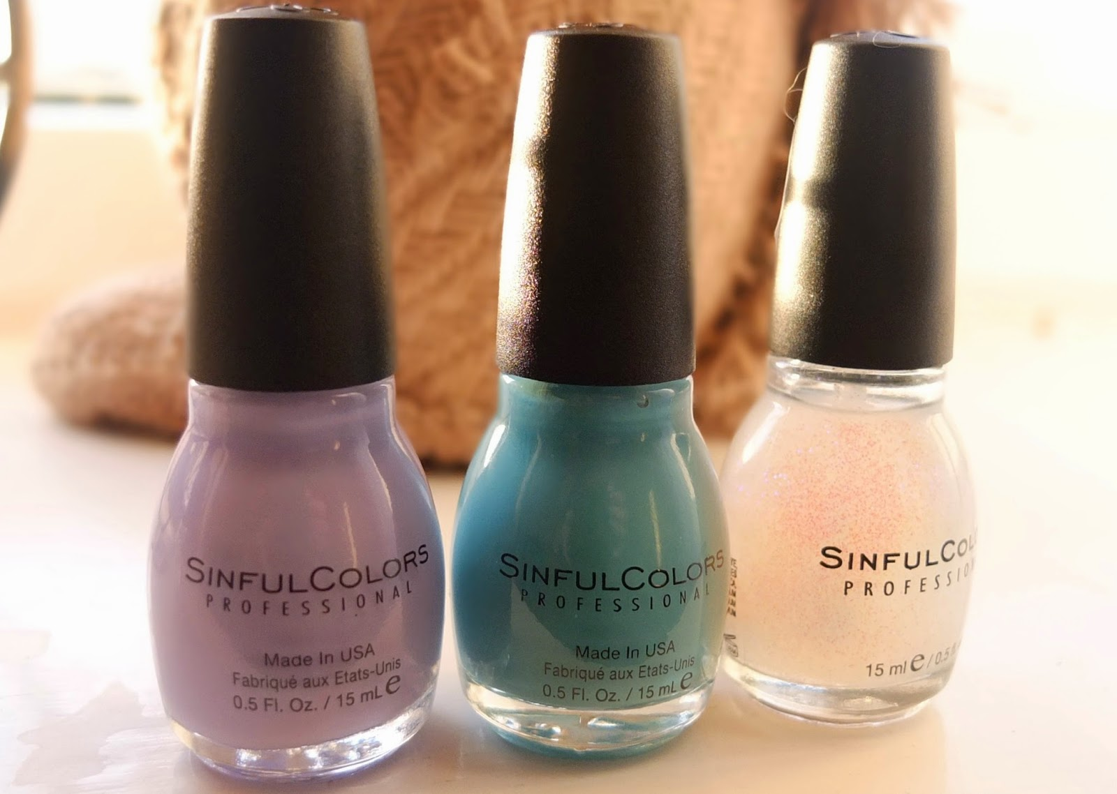 Sinful Colors Nail polishes review on Hello Terri Lowe, UK beauty blog.