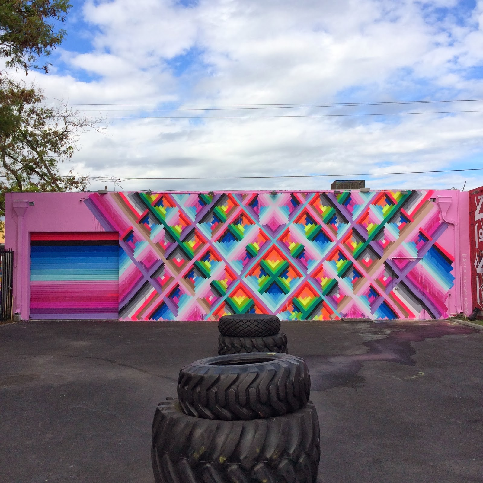 Maya Hayuk New Mural For Art Basel 13 Wynwood Walls