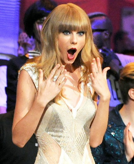 Taylor Swift surprised randommusings.filminspector.com