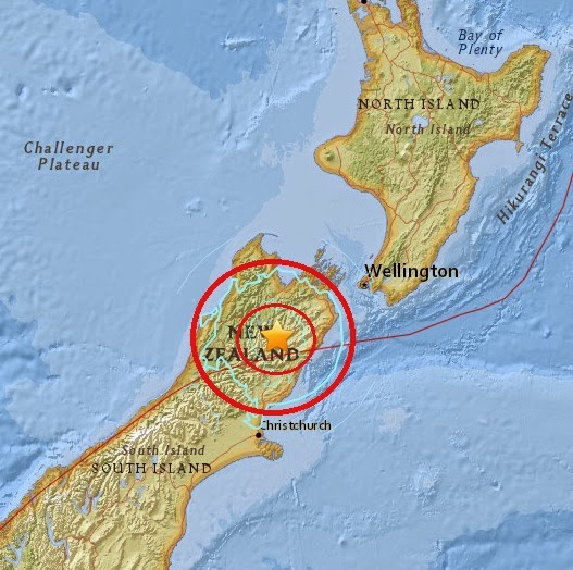 Magnitude 6.1 Earthquake of Kaikoura, New Zealand 2015-04-24