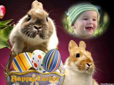 fotomontaje Conejo de Pascua