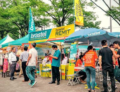 Brastel Remit money remittance company, Vietnam Festival 2015, Tokyo.