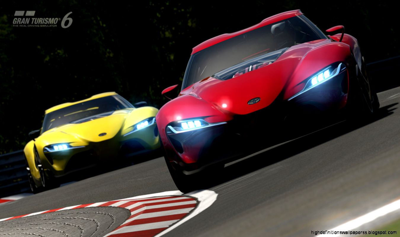 View Original Size. Toyota Ft1 Yellow Vs Red Car Wallpaper ...