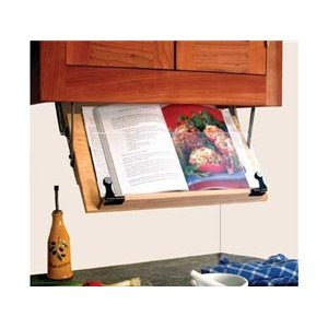 ... with this CS Household Under-Cabinet Cookbook Holder from Amazon.com