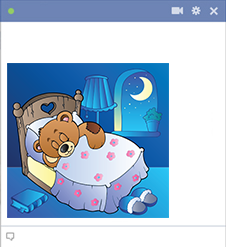 Facebook teddy bear sticker