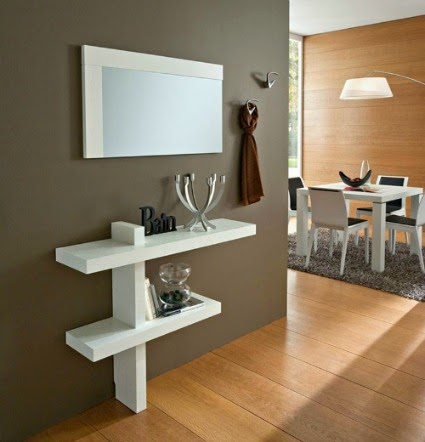 Consigli per la casa e l 39 arredamento soluzioni salvaspazio la console - Soluzioni ingresso casa ...