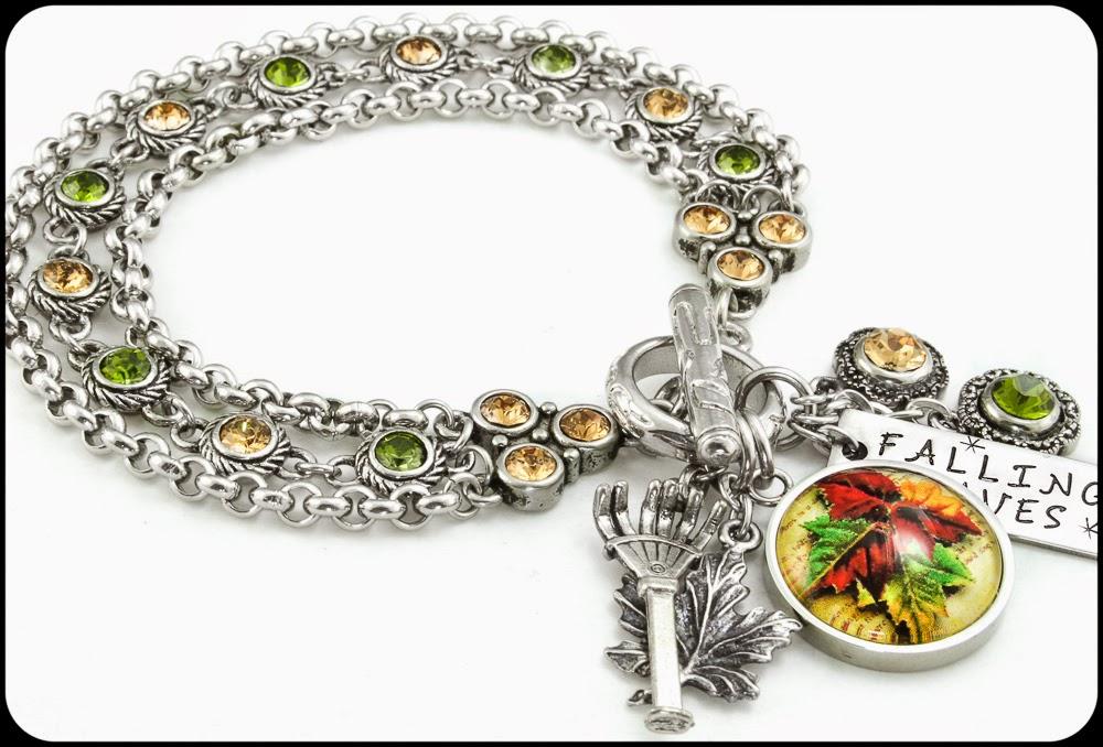 autumn bracelet-fall jewelry-autumn jewelry