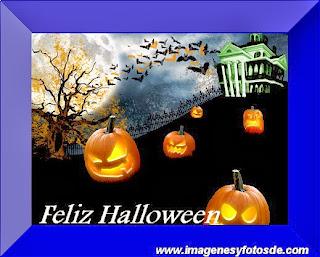 Feliz Halloween con  Calabazas y Murcielagos