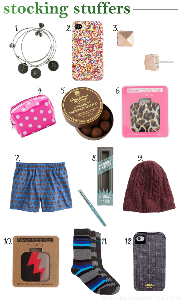 Sprinkles And Style Stocking Stuffers For Her And Him