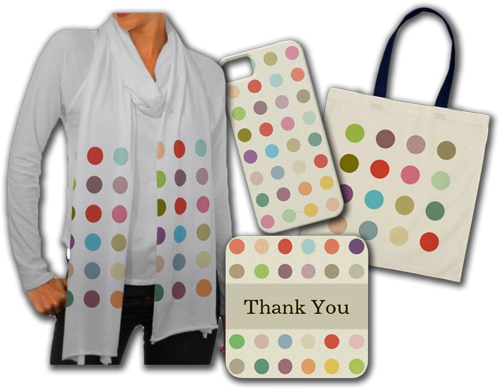 Retro Candy Colors Polka Dots Gifts
