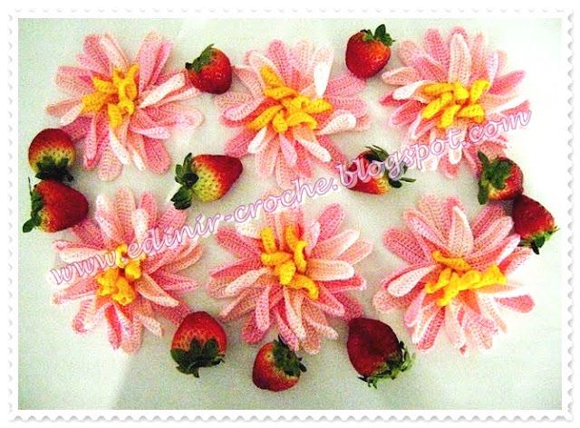 flores em croche passo-a-passo dvd frete gratis edinir-croche