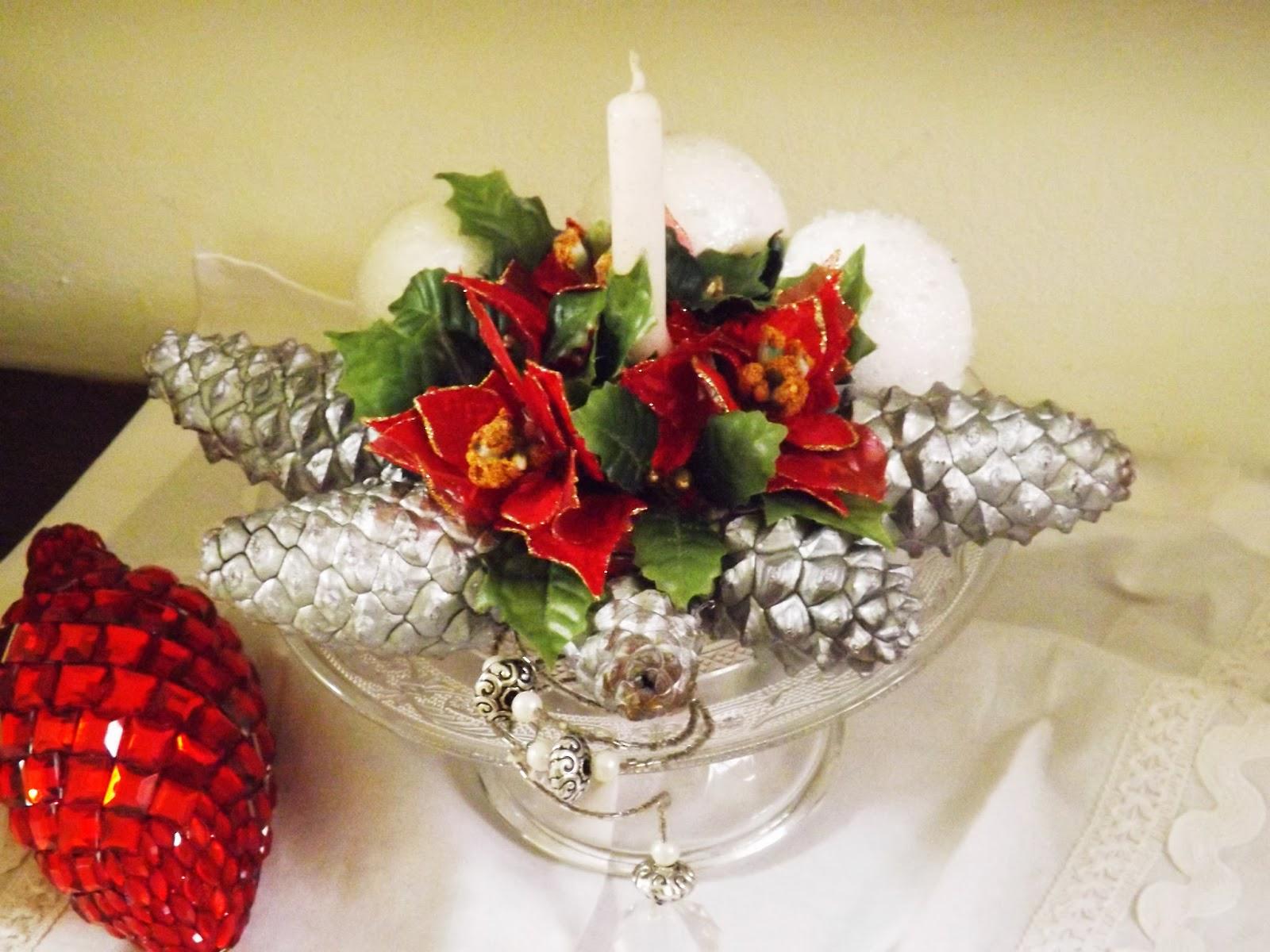 A la mesa con glamour centro navide o for Menu navideno facil de hacer