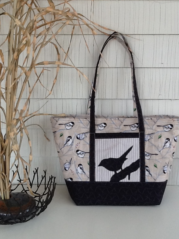 Scrap-bags Sewing Patterns: Big Easy Tote and Chickadee Fabrics
