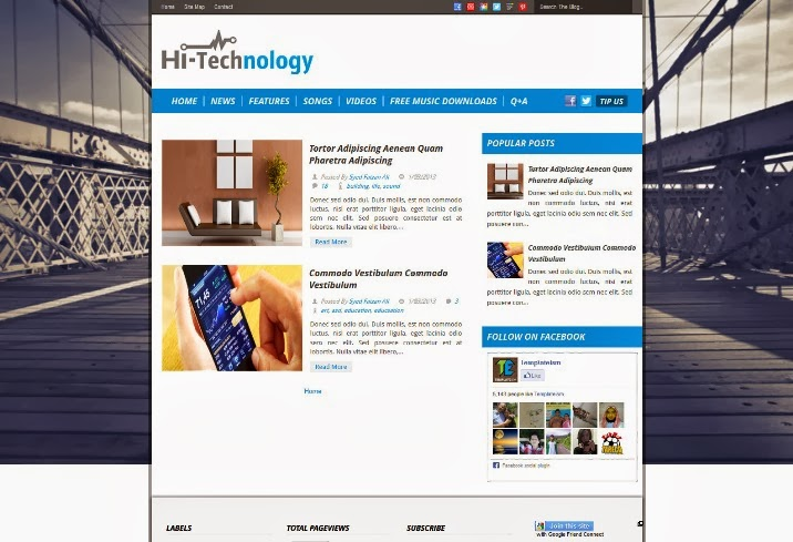 Hi-Tech Technology Blogger Template