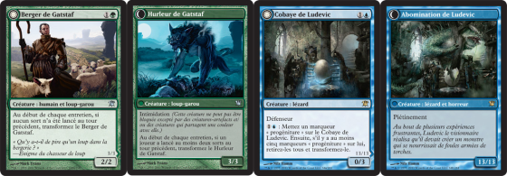 Magic Innistrad : cartes recto-verso