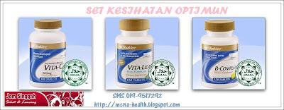 Set Kesihatan Optimun - Sustained Release Vitamin C, B COmplex, & Vitalea