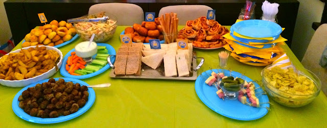 Ioanna's Notebook - Minion Birthday Party (Part 2) - Savory (Food) buffet with kid friendly recipes