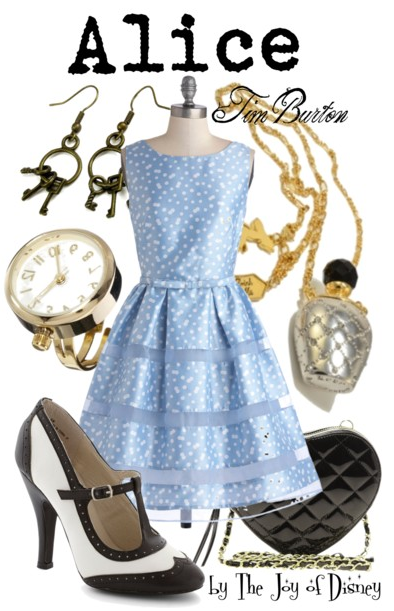 alice in wonderland, alice in wonderland tim burton, alice costume, disney costume, disney fashion