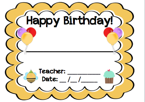 Sunshine and Teaching: Free printable - Birthday Chart