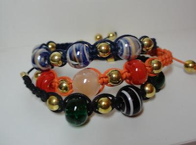 pulseiras da moda lindas shambalas coloridas