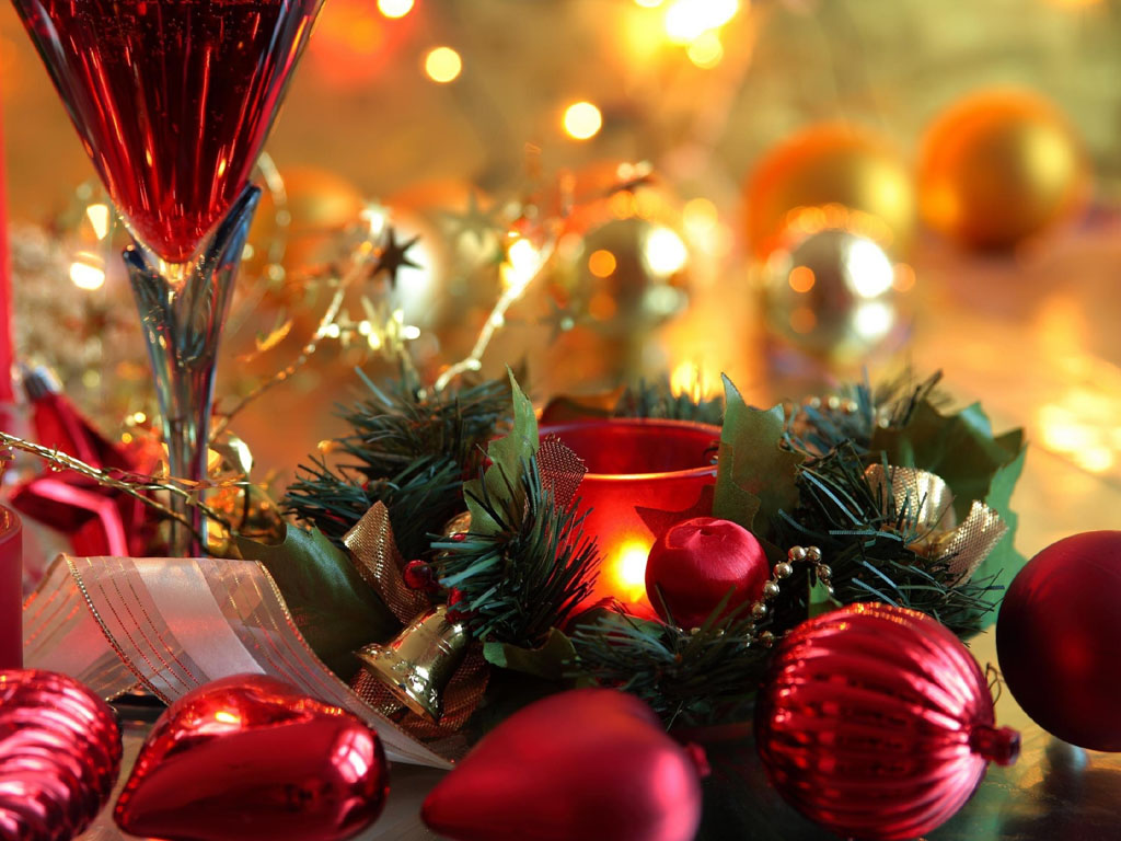 Wallpapers christmas new year decorations for Background decoration images