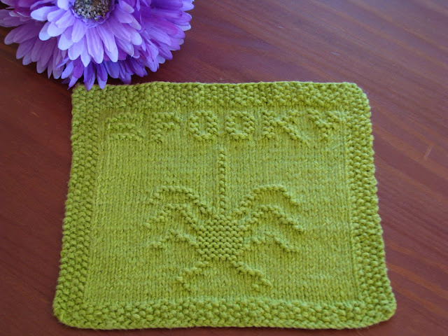 M Dishcloth Knitting Pattern : One Crafty Mama: Spooky Spider Dishcloth