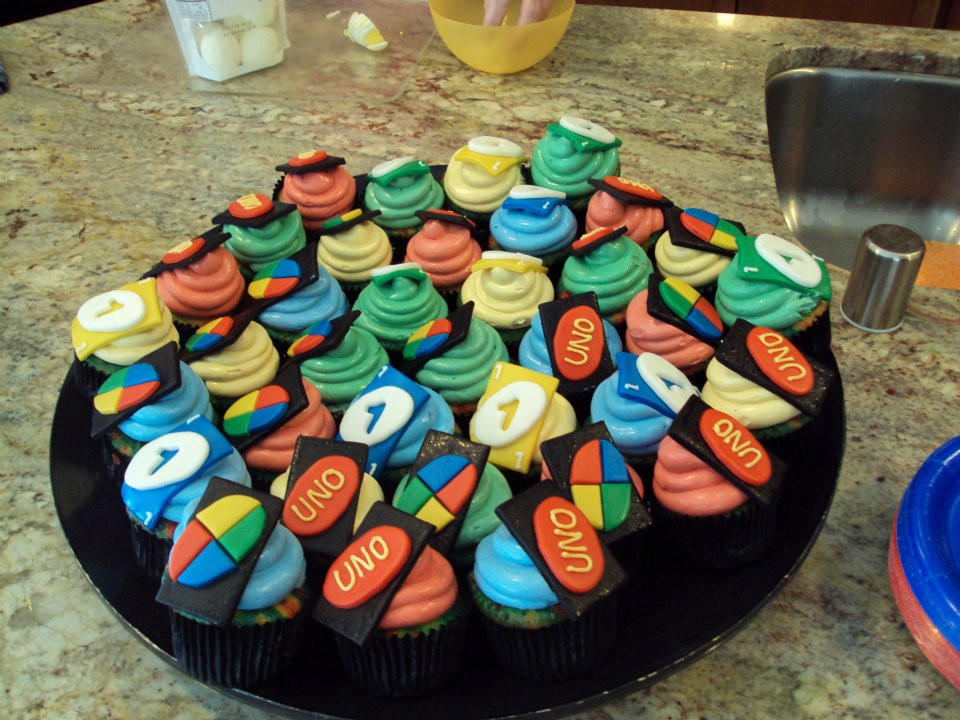 Your Happy Baker Uno Themed 1st Birthday Cupcakes