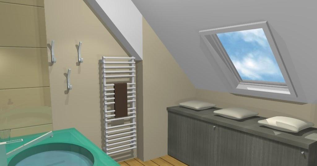 Inspiration salle de bain salle de bain sous pente zen - Inspiration salle de bain zen ...
