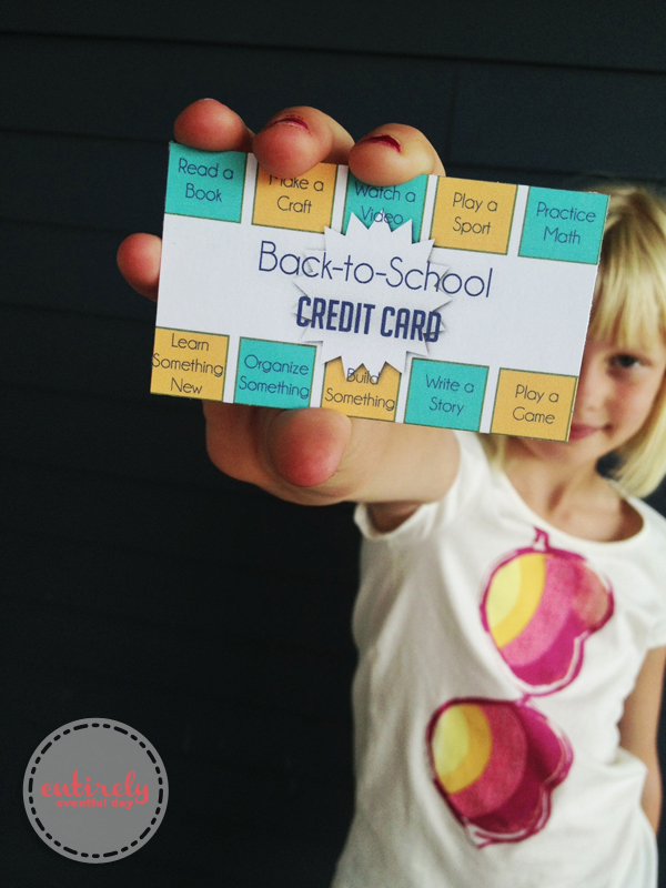 Get your kids ready to go back to school by using these cards to help establish a routine before school actually starts. Kids love them because they look like credit cards! #backtoschool #kidstuff