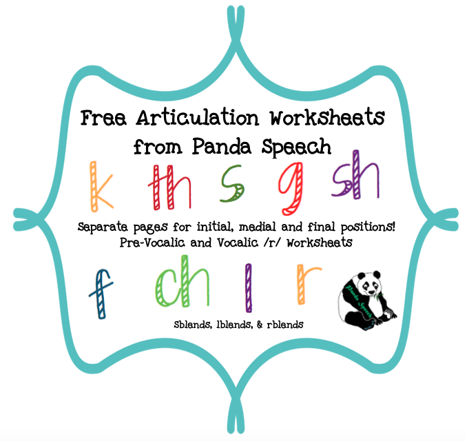 Print &amp- Go Articulation Worksheets for 25 Sounds &amp- Blends!