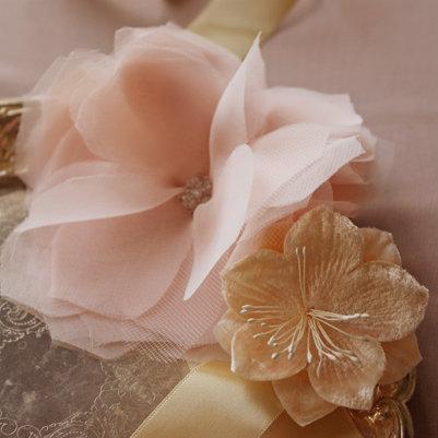 Шифоновый цветок своими руками.