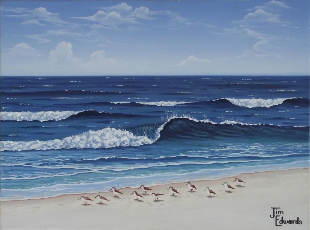 Sandpipers 12 x 16 (Sold)