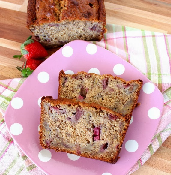 Strawberry Bread with Rhubarb and Bananas Recipe