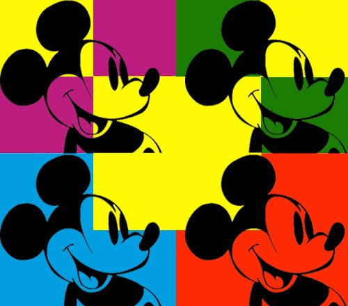 The gallery for --> Andy Warhol Pop Art Mickey Mouse