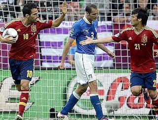 أهداف مباراة اسبانيا وايطاليا 1-1 في بطولة اليورو بتعليق عصام الشوالي 10-6-2012