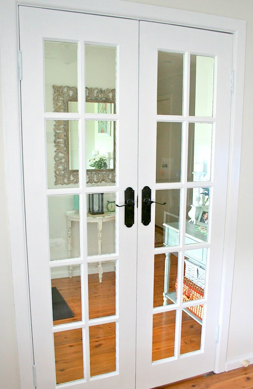 white french doors restyled