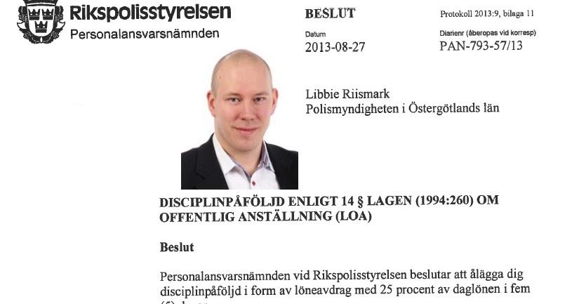 Libbie Riismark Polisen Norrkoping Politiker Moderat Brottsling Pan Polisenas Ansvarsnamnd Mail Utpressning